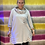Thumbnail: Silver grey Sequin pocket cowl neck top fitting 10-16