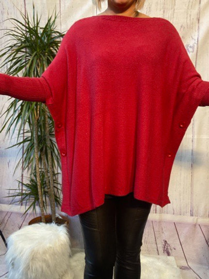 Wine oversized jumper, fitting up to a size 22.   088