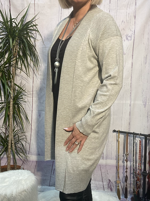 Soft grey Cardigan fitting up to a size 16