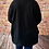 Thumbnail: Black tree print zipped cowl neck top, fitting up to a size 20