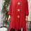 Thumbnail: Red triple star quirky tunic, fitting up to a size 24.    9115