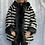 Thumbnail: Zebra Black and white faux fur hooded coat fitting up to a size 16