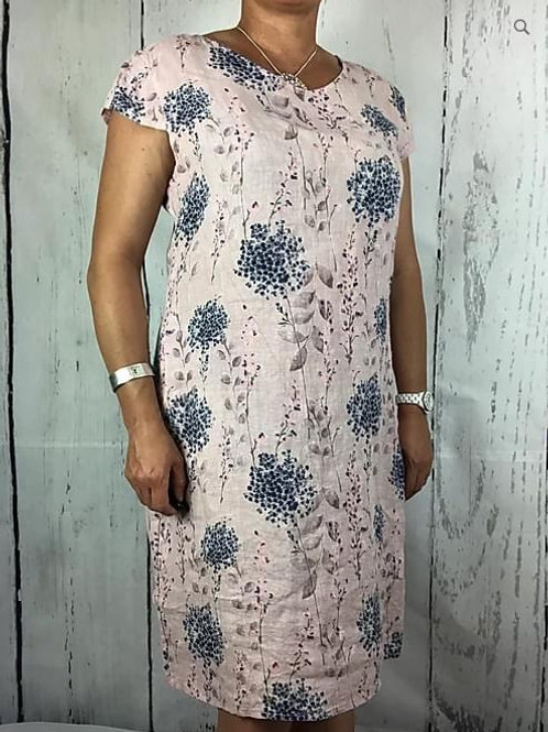 Blush Blossom Linen Dress Fitting Up to size 18