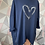 Thumbnail: Navy sequin heart top, fitting up to a size 22