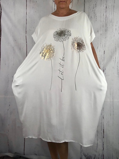 White let it be Dress Fitting up to a size 24. 008