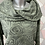 Thumbnail: Khaki Rose Scalloped top, fitting up to a size 22