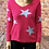 Thumbnail: Pink knitted star pattern jumper, fitting sizes 8-12