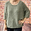 Thumbnail: Khaki slouchy teddy jumper, fitting from a 12 to 20