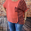 Thumbnail: Coral  cotton top, fitting sizes 10-16