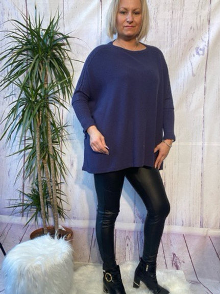 Navy oversized jumper, fitting up to a size 22.   088