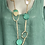 Thumbnail: Teal and Gold necklace