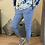 Thumbnail: Blue Magic Plain Super Stretch Crushed Trousers fitting 8-18
