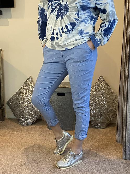 Blue Magic Plain Super Stretch Crushed Trousers fitting 8-18
