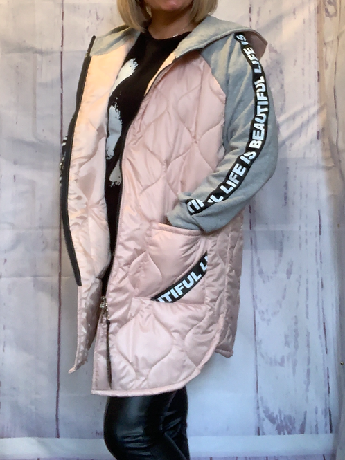 Soft pink Gucci inspired jacket fitting up to a size 20 7944