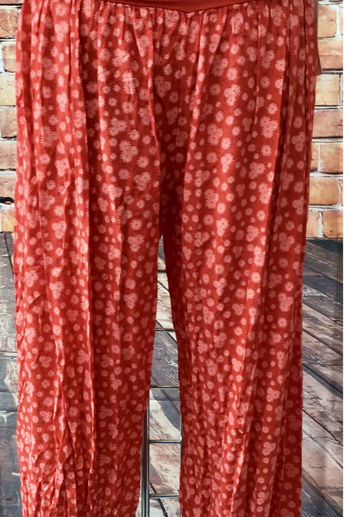 Red Daisy Harem Trousers, fitting sizes 10-18