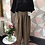Thumbnail: Brown linen full length quirky pocket trousers