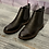 Thumbnail: Pewter patent and leather look ankle boot