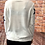 Thumbnail: White knitted star pattern jumper, fitting sizes 8-12