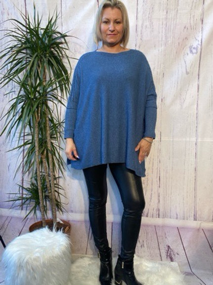 Denim oversized jumper, fitting up to a size 22.   088