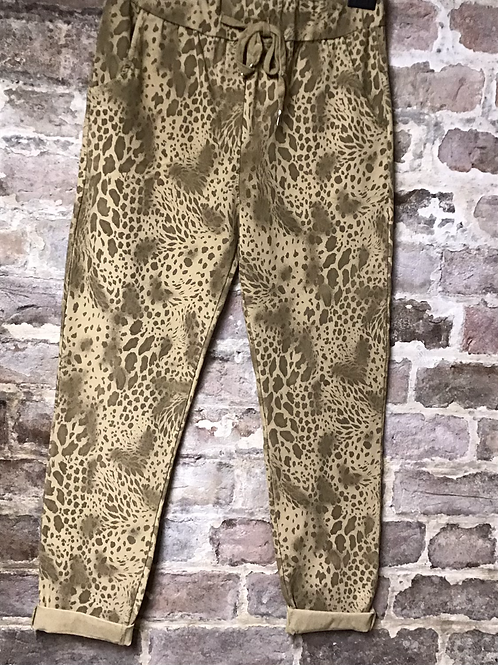 Mocha snake print magic joggers, fitting up to a size 20.     0901