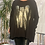 Thumbnail: Animal Black fan back top with foil print  fitting up to a size 24  0808