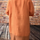 Thumbnail:  Orange linen quirky longline top, fitting sizes 10-22