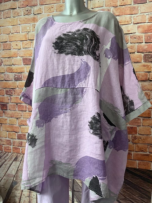 Lilac oversized pocket top, fitting up to a size 26