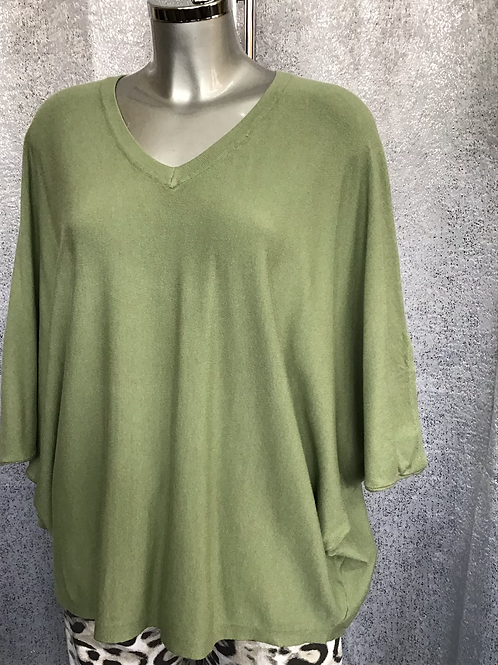 Sage soft knit superbelle jumper, fitting from a size 12-18.   7130