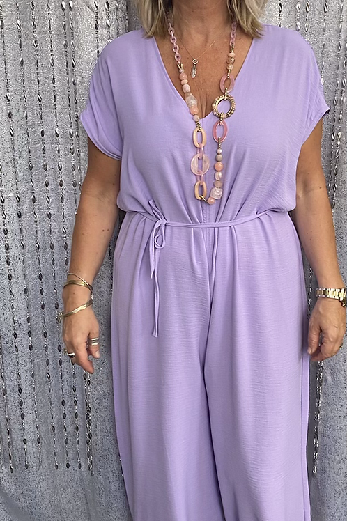 Lilac Jumpsuit, fitting sizes 10-18