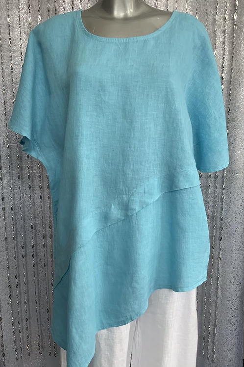 Turquoise Quirky Lucy top