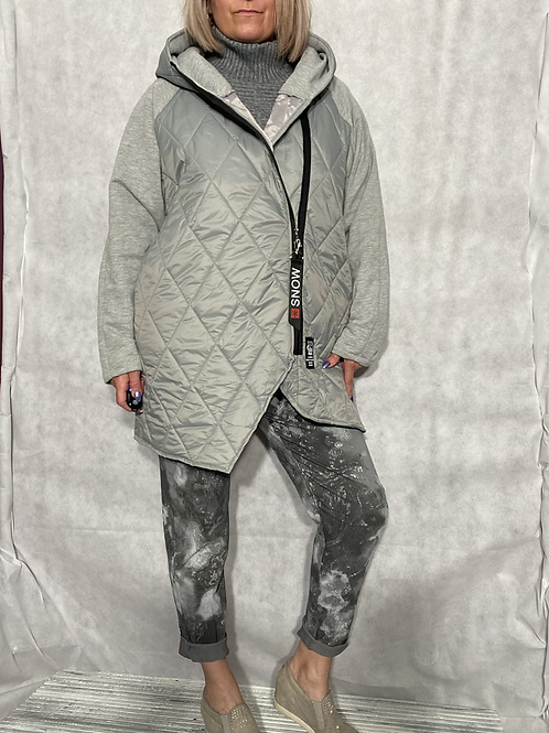 Grey Gucci inspired coat fitting up to a size 20 7929