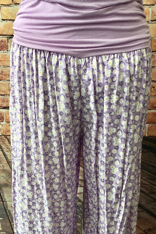 Lilac Daisy Harem Trousers, fitting sizes 10-18