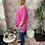 Thumbnail: Cerise button top/blouse, fitting up to a size 24