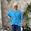 Thumbnail: Turquoise button top/blouse, fitting up to a size 24