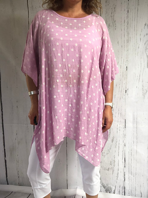 Pale pink Dotty Cool Floaty Top