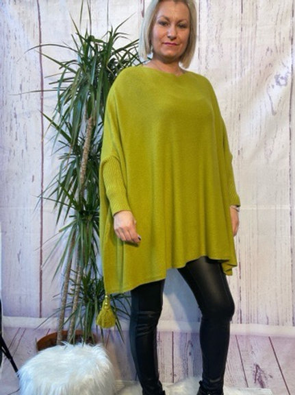 Citrus tassel detail poncho jumper fitting up to a size 24 6111