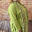Thumbnail: Lime quirky elasticated top, fitting up to a size 22