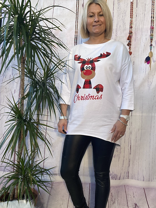 White Rudolf top, fitting up to a size 16.  12111