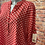 Thumbnail: Red polka dot  cotton top fitting up to a size 18