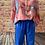 Thumbnail: Royal blue Capri pants size 12,14,16,22