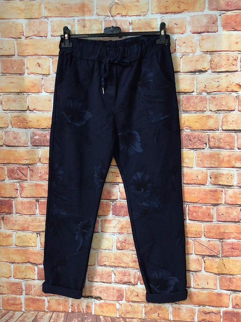 Navy 'wow' pants. Fits up to size 16