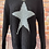 Thumbnail: Black chunky knit star jumper, fits sizes up to 14
