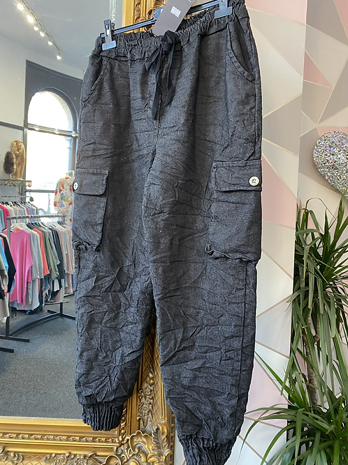 Charcoal magic cargo pants fitting up to size 18