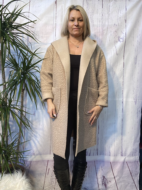 Fawn teddy bear coat fitting from a size 10 to a size 16  13111