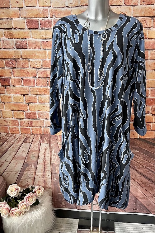 Blue Ada Dress, fitting up to a size 22