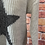 Thumbnail: Beige chunky knit star jumper, fits sizes up to 14