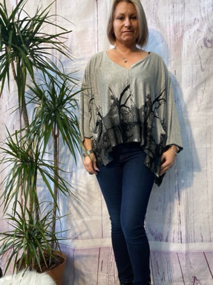 Grey cover up, fits from a size 10-24.     16118