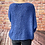Thumbnail: Cobalt slouchy teddy jumper, fitting from a 12 to 20