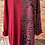 Thumbnail: Wine panelled animal print top, fits sizes 12-22