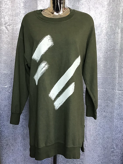 Khaki brush stroke tunic, fitting up to a size 14.   2037